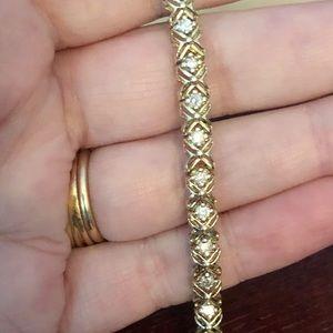 STUNNING 10K 2CT REAL DIAMOND TENNIS BRACELET WOW!